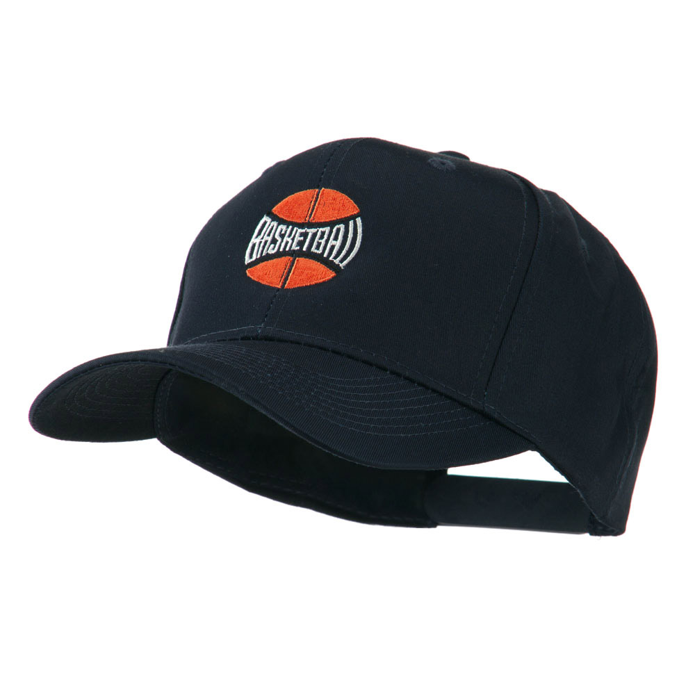 Basketball with Wording Inside Embroidered Cap - Navy - Hats and Caps Online Shop - Hip Head Gear