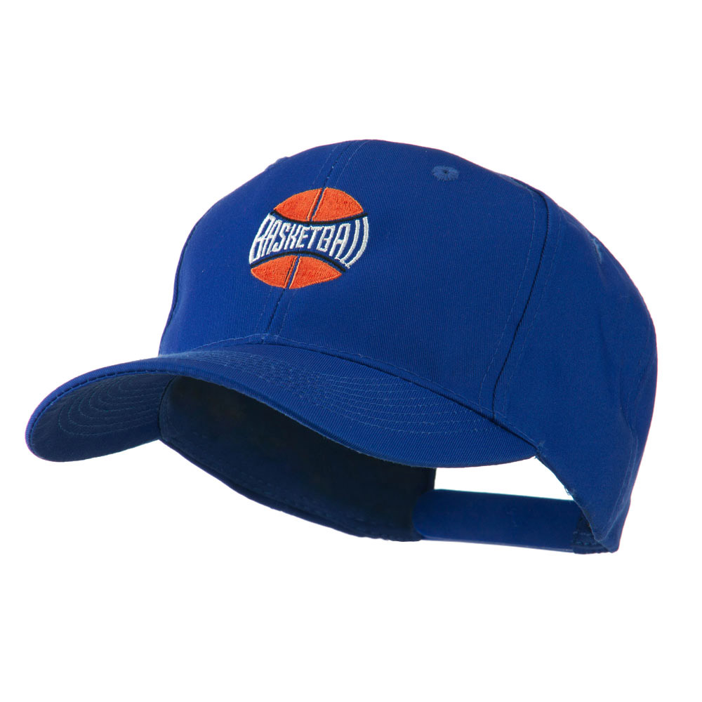 Basketball with Wording Inside Embroidered Cap - Royal - Hats and Caps Online Shop - Hip Head Gear