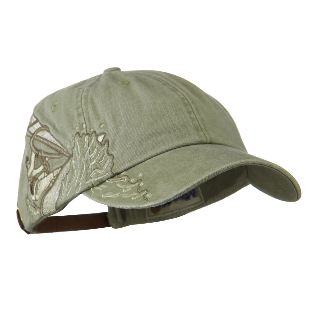 Wind Surfer Embroidered Design Cap - Stone - Hats and Caps Online Shop - Hip Head Gear