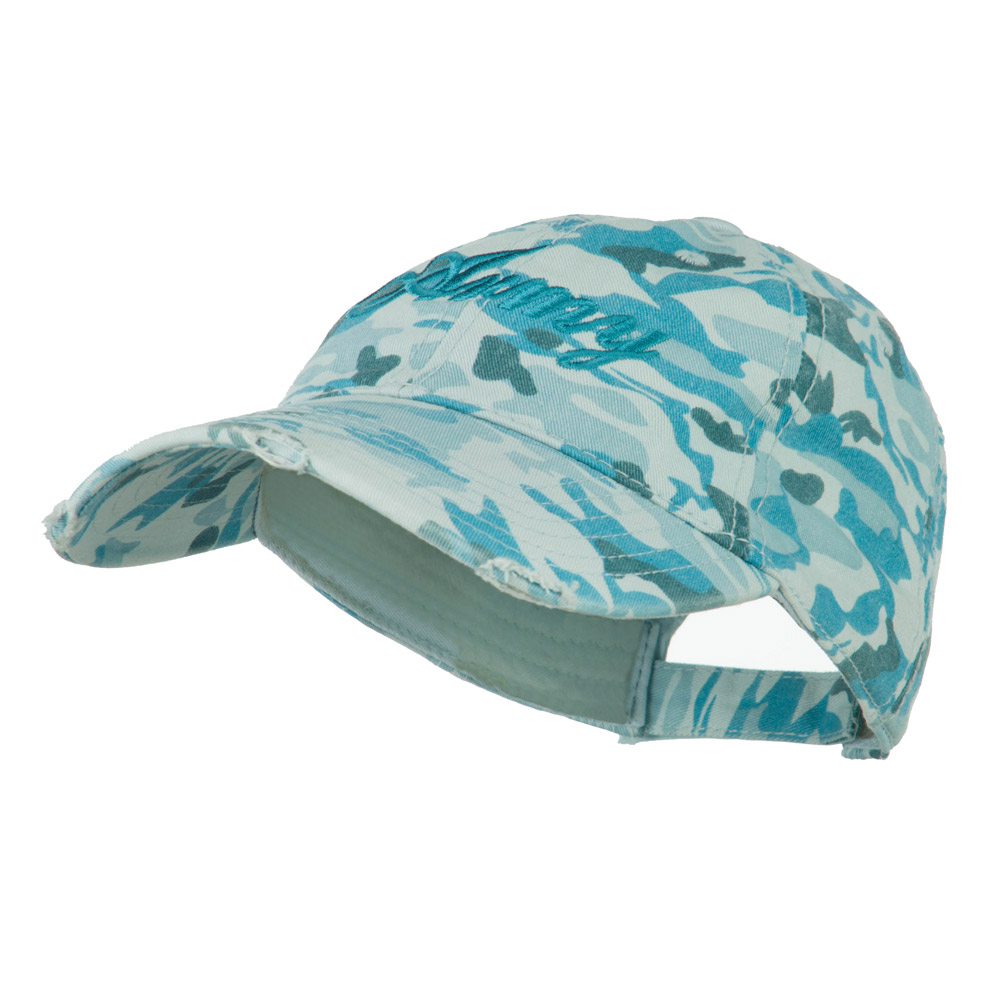 Women's Army Embroidered Unconstructed Cap - Blue - Hats and Caps Online Shop - Hip Head Gear