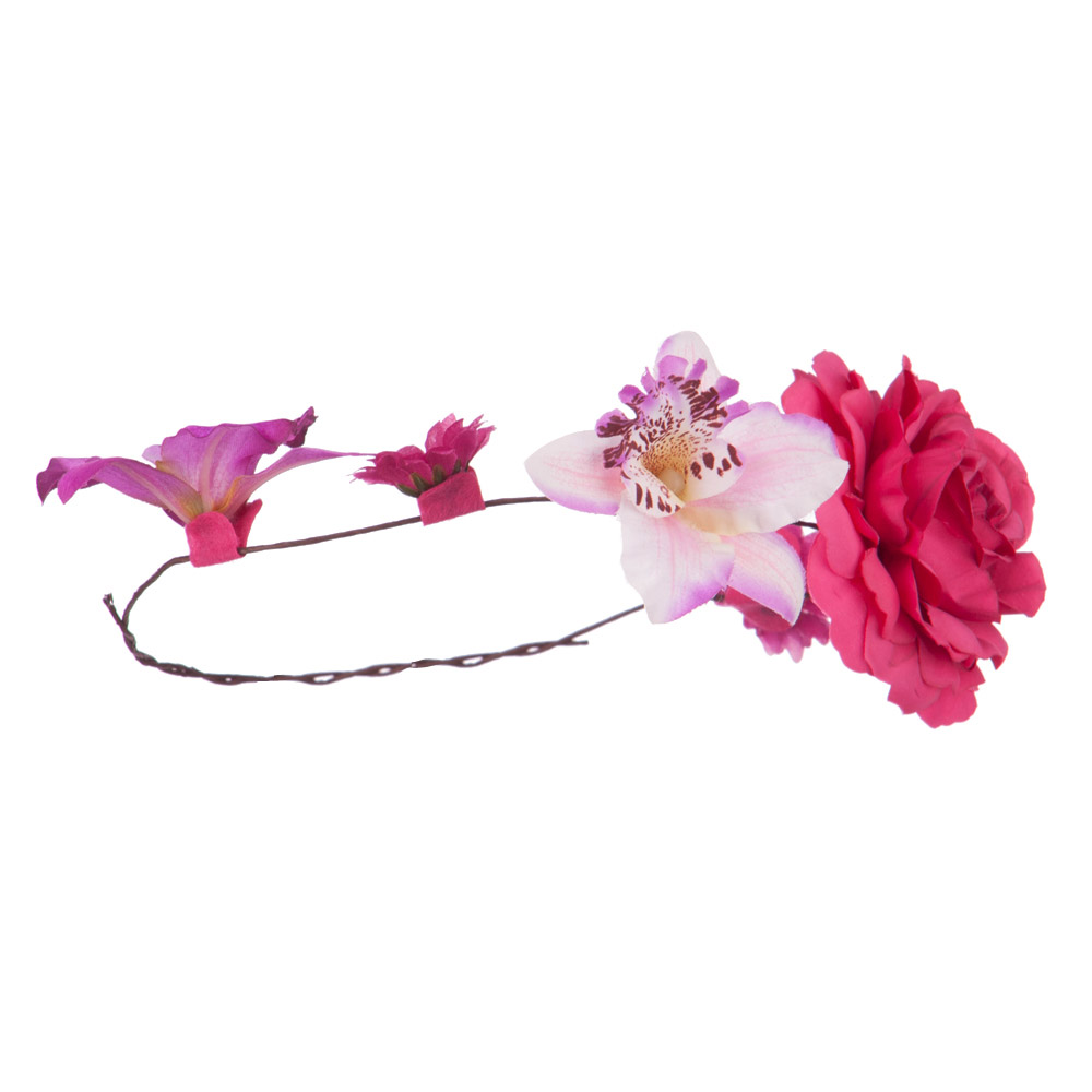 Women's Flower Wreath Hair Piece - Purple - Hats and Caps Online Shop - Hip Head Gear
