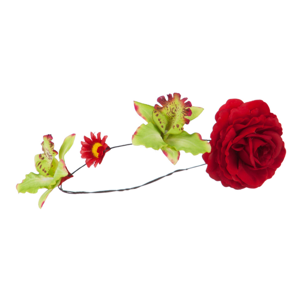 Women's Flower Wreath Hair Piece - Red - Hats and Caps Online Shop - Hip Head Gear