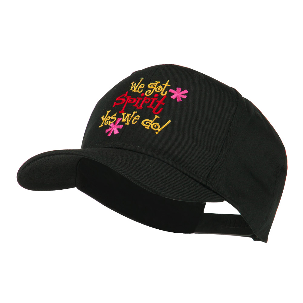 We Got Spirit Yes We Do Embroidered Cap - Black - Hats and Caps Online Shop - Hip Head Gear