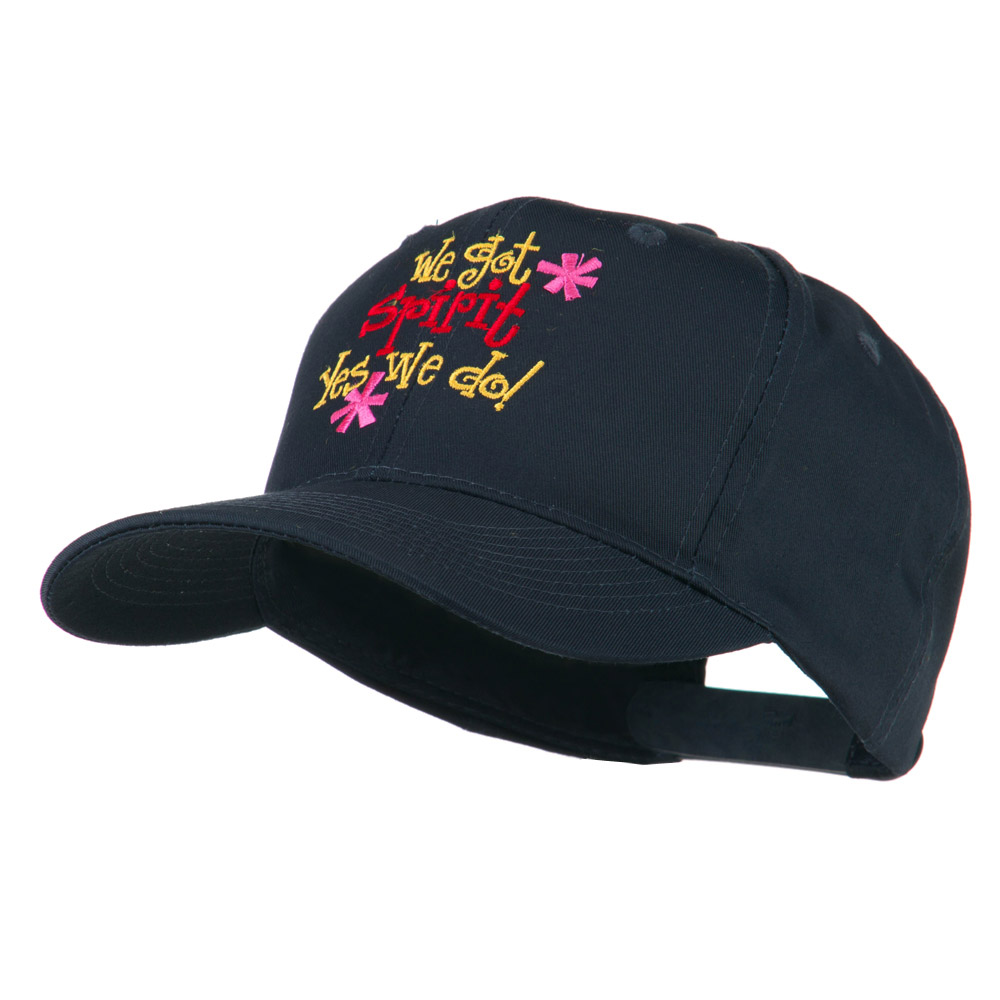 We Got Spirit Yes We Do Embroidered Cap - Navy - Hats and Caps Online Shop - Hip Head Gear