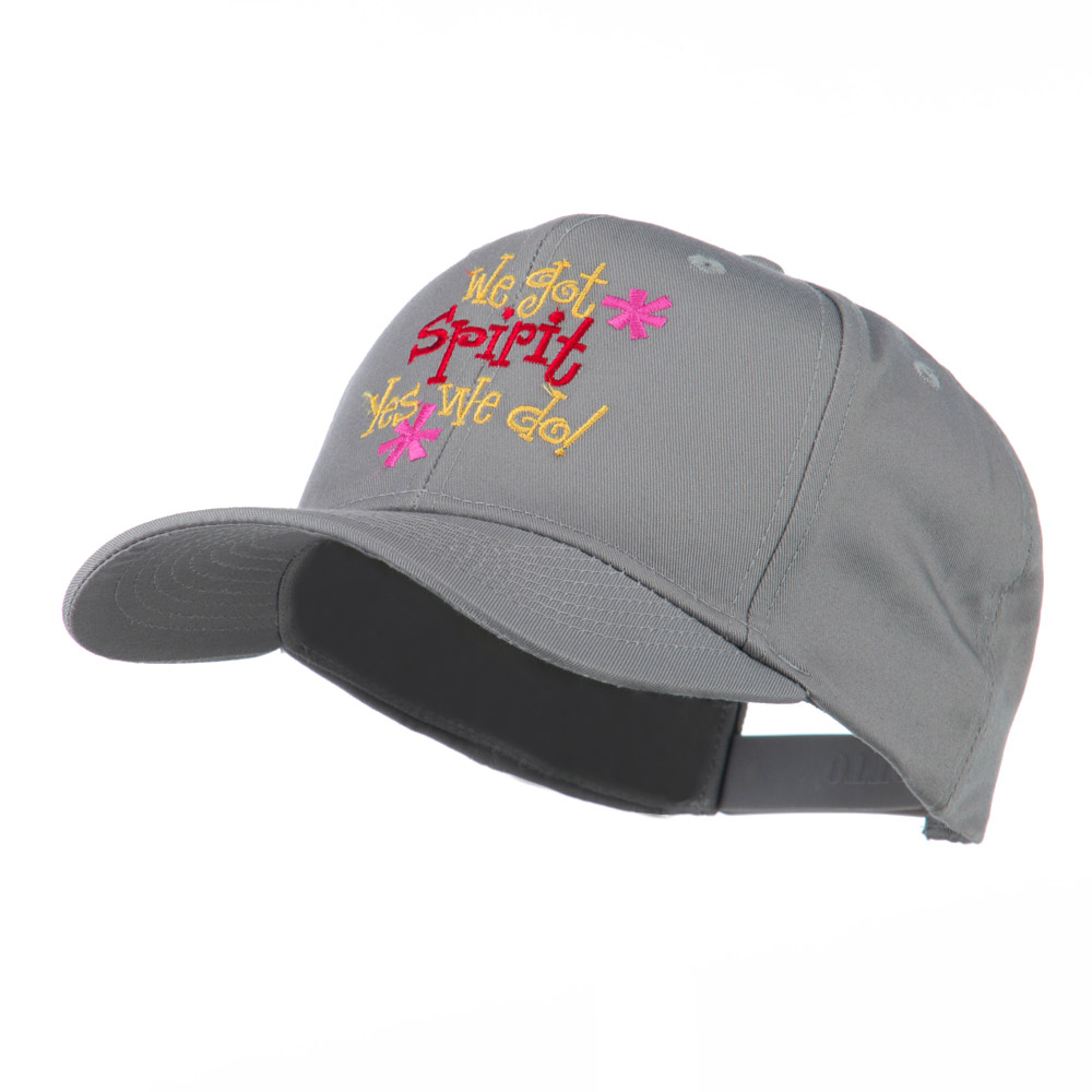 We Got Spirit Yes We Do Embroidered Cap - Grey - Hats and Caps Online Shop - Hip Head Gear