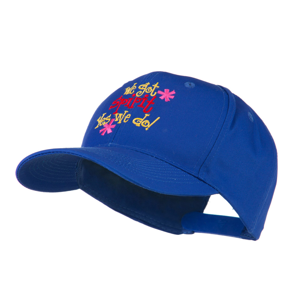 We Got Spirit Yes We Do Embroidered Cap - Royal - Hats and Caps Online Shop - Hip Head Gear