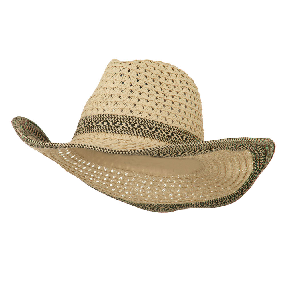 Women's Cowboy Hat with Tribal Design Band - Natural - Hats and Caps Online Shop - Hip Head Gear