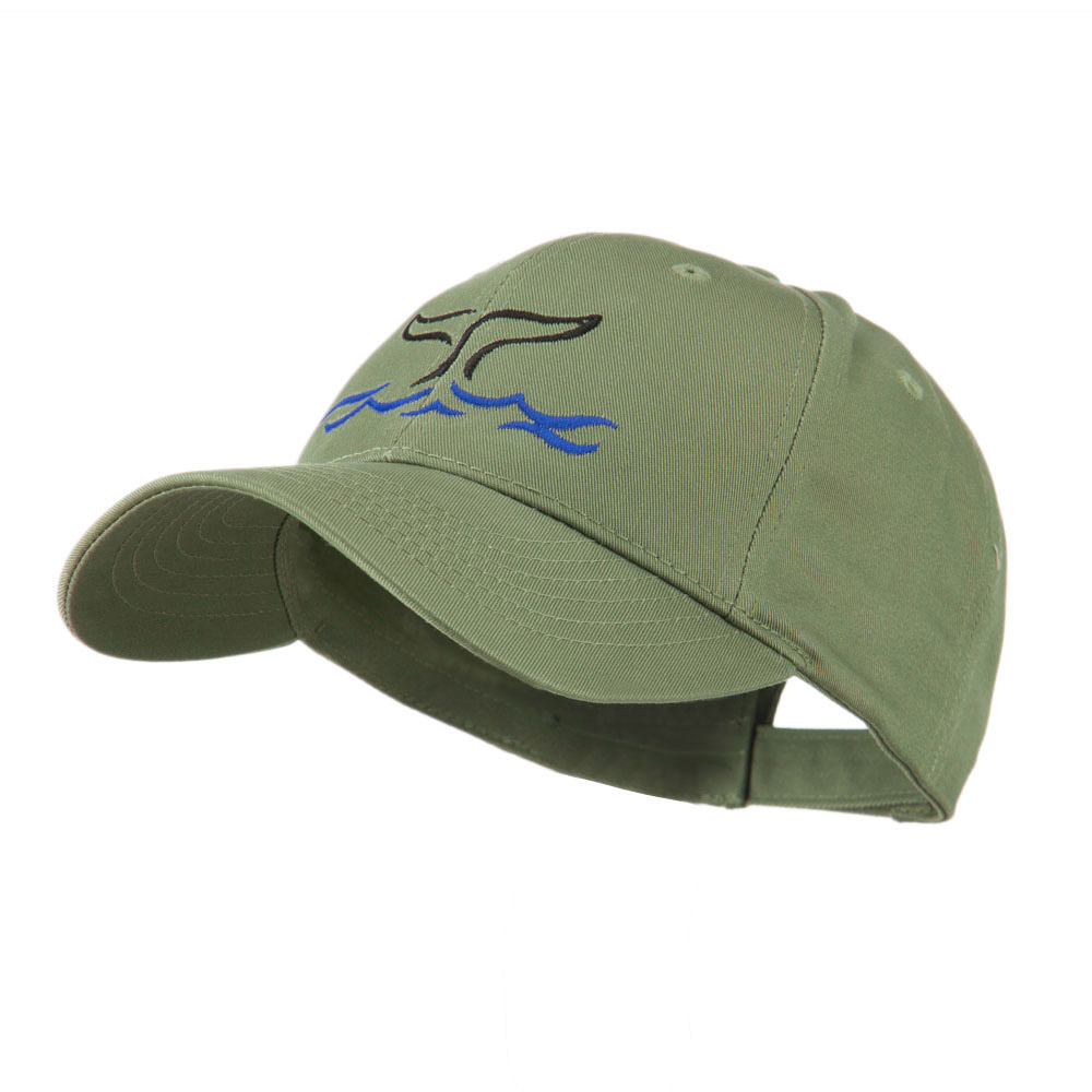 Whale Tail Outline Embroidered Cap - Olive - Hats and Caps Online Shop - Hip Head Gear