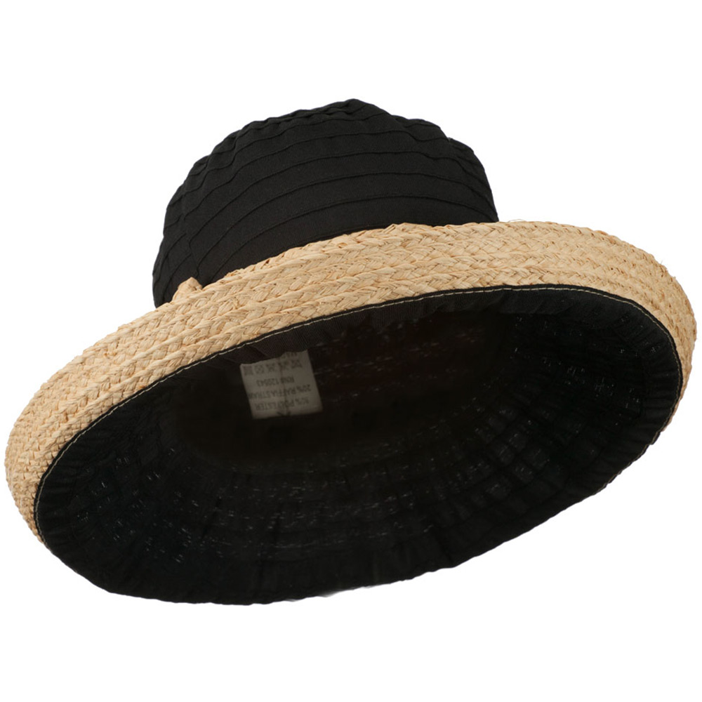 Women's Raffia Hat with Kettle Brim - Black - Hats and Caps Online Shop - Hip Head Gear
