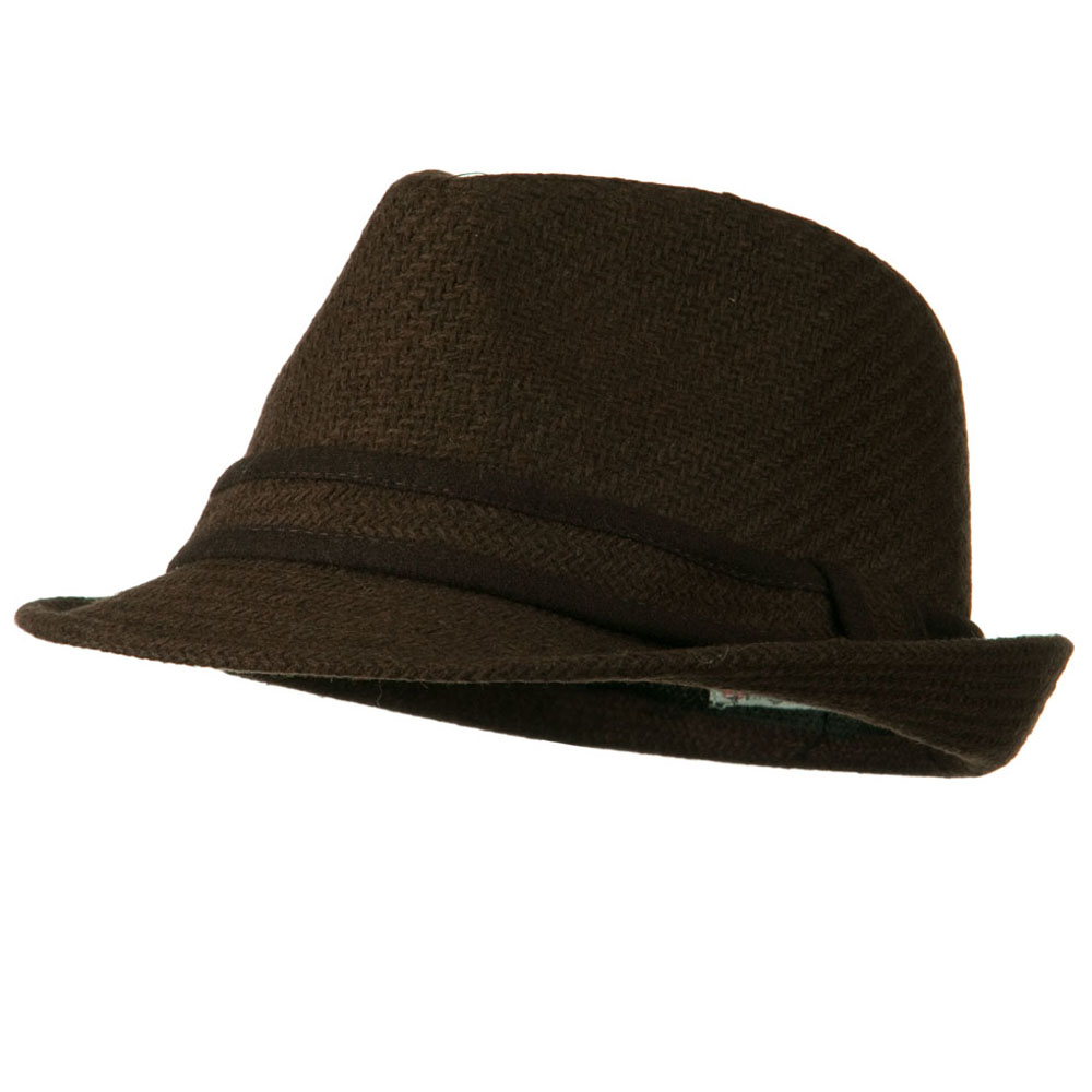 Winter Knit Fedora Hat - Brown - Hats and Caps Online Shop - Hip Head Gear