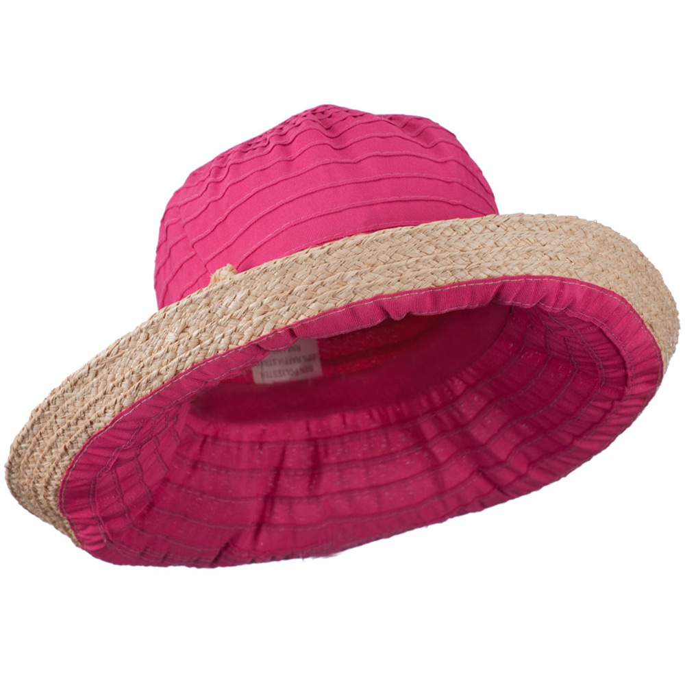 Women's Raffia Hat with Kettle Brim - Fuchsia - Hats and Caps Online Shop - Hip Head Gear