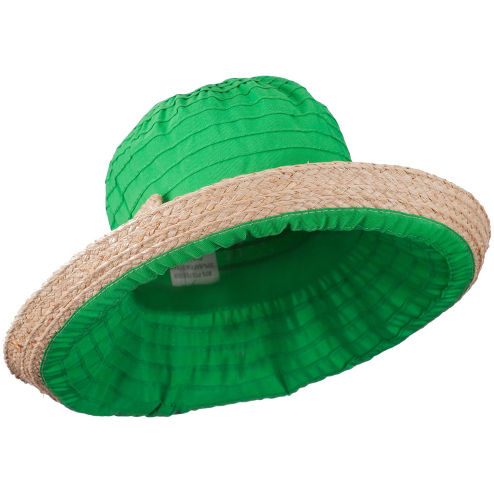Women's Raffia Hat with Kettle Brim - Green - Hats and Caps Online Shop - Hip Head Gear