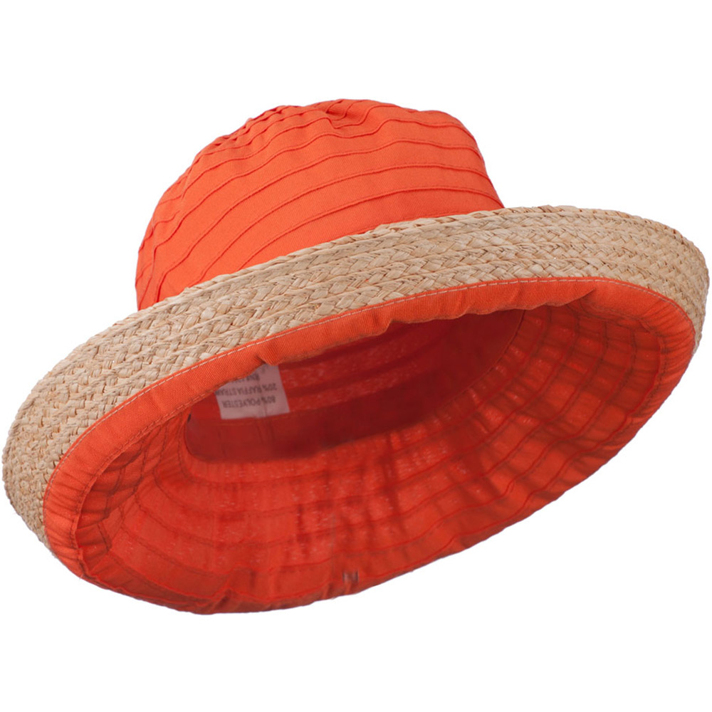 Women's Raffia Hat with Kettle Brim - Orange - Hats and Caps Online Shop - Hip Head Gear