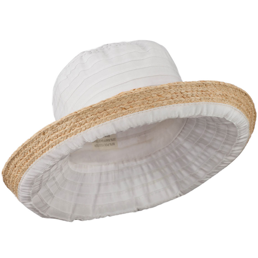 Women's Raffia Hat with Kettle Brim - White - Hats and Caps Online Shop - Hip Head Gear
