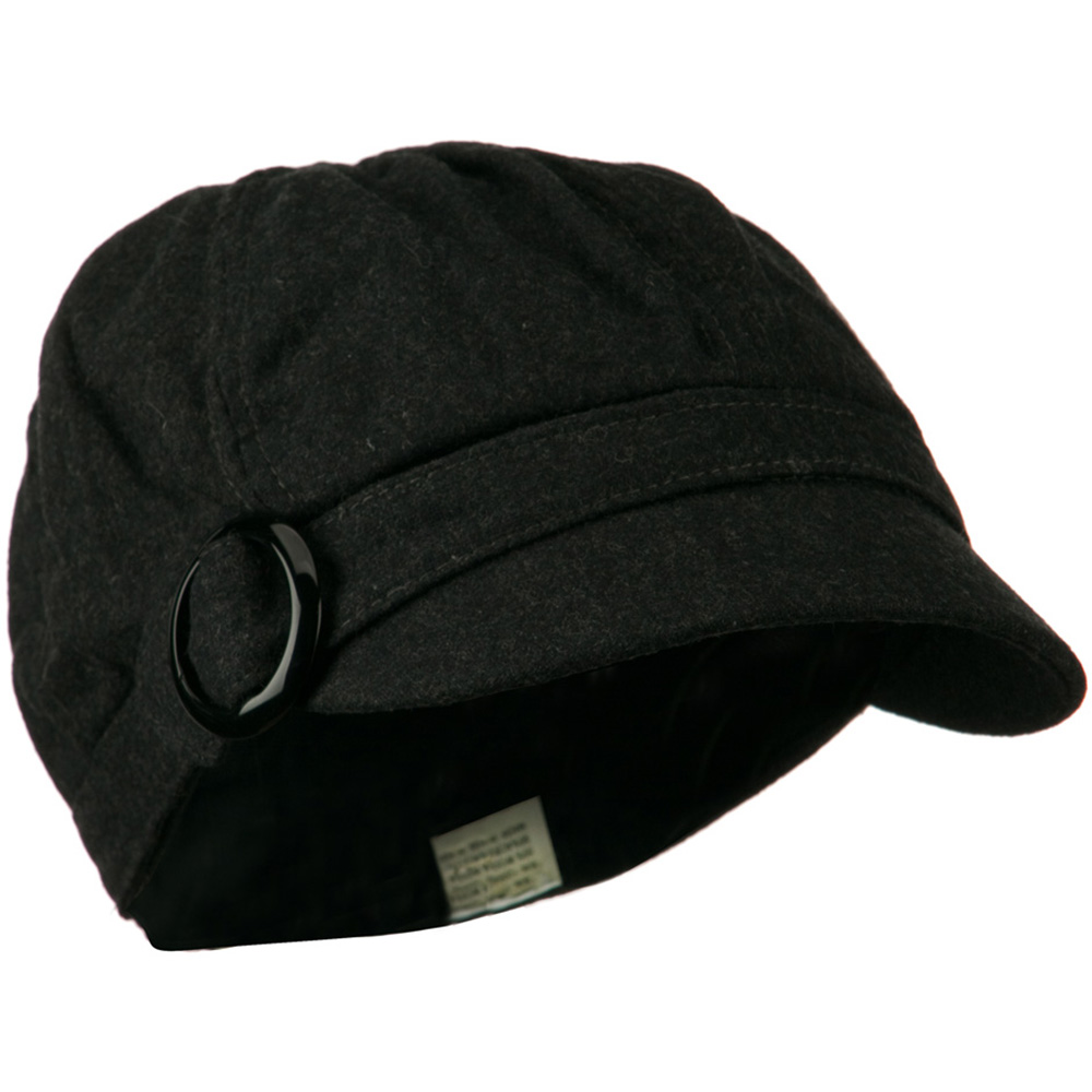Muffy Panel Wool Newsboy Cap - Dark Grey - Hats and Caps Online Shop - Hip Head Gear