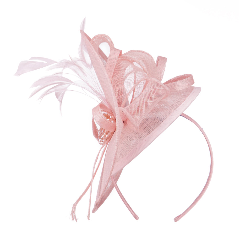Double Crown Bead Detail Headband Fascinator - Pink - Hats and Caps Online Shop - Hip Head Gear