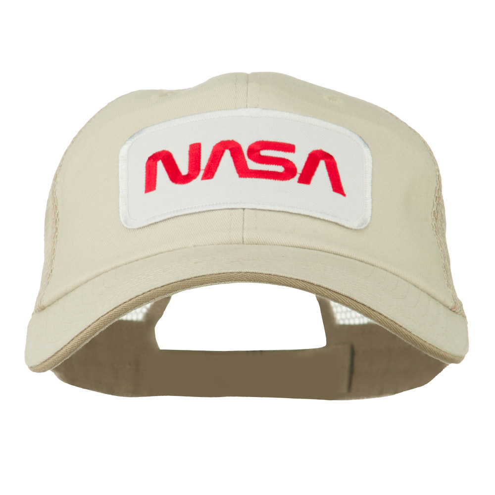 e4Hats:Ace World White NASA Big Size Cotton Twill Mesh Patched Cap - Putty Beige W45S57B at Sears.com