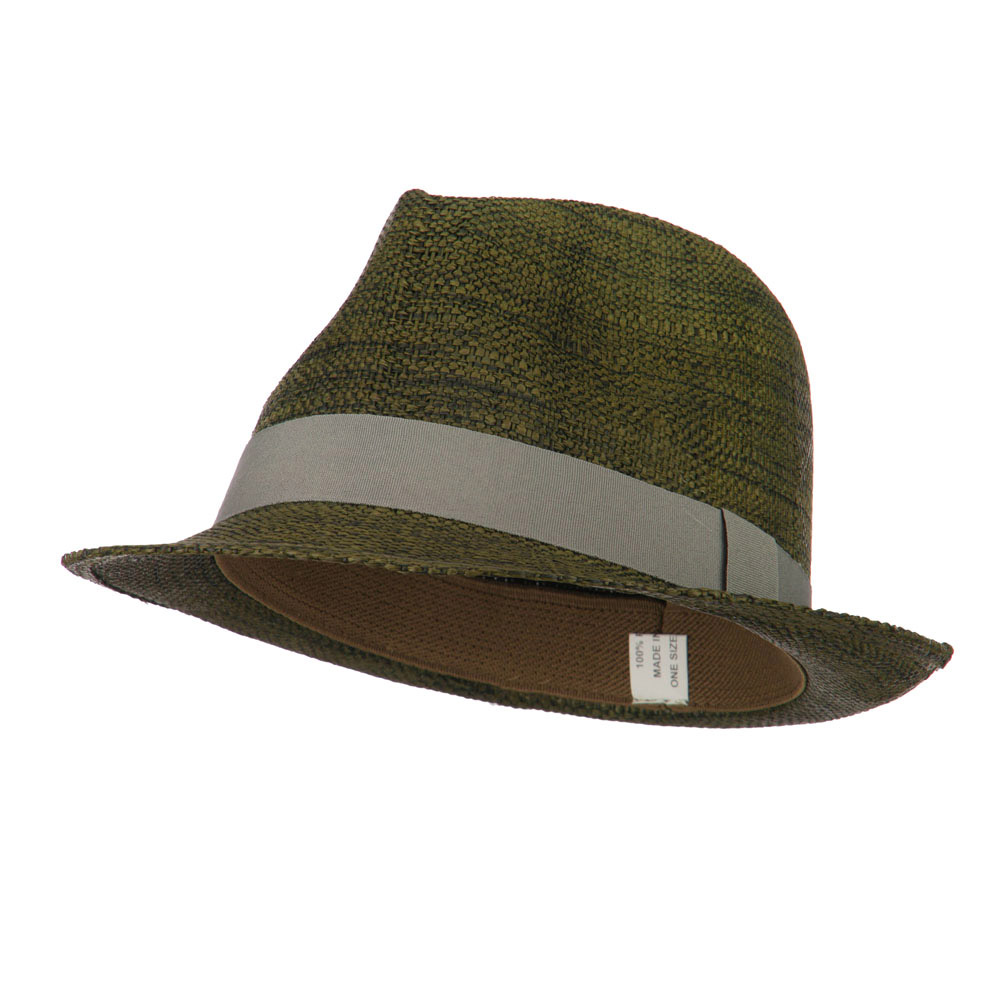 Men's Large Brim Paper Woven Fedora - Brown - Hats and Caps Online Shop - Hip Head Gear