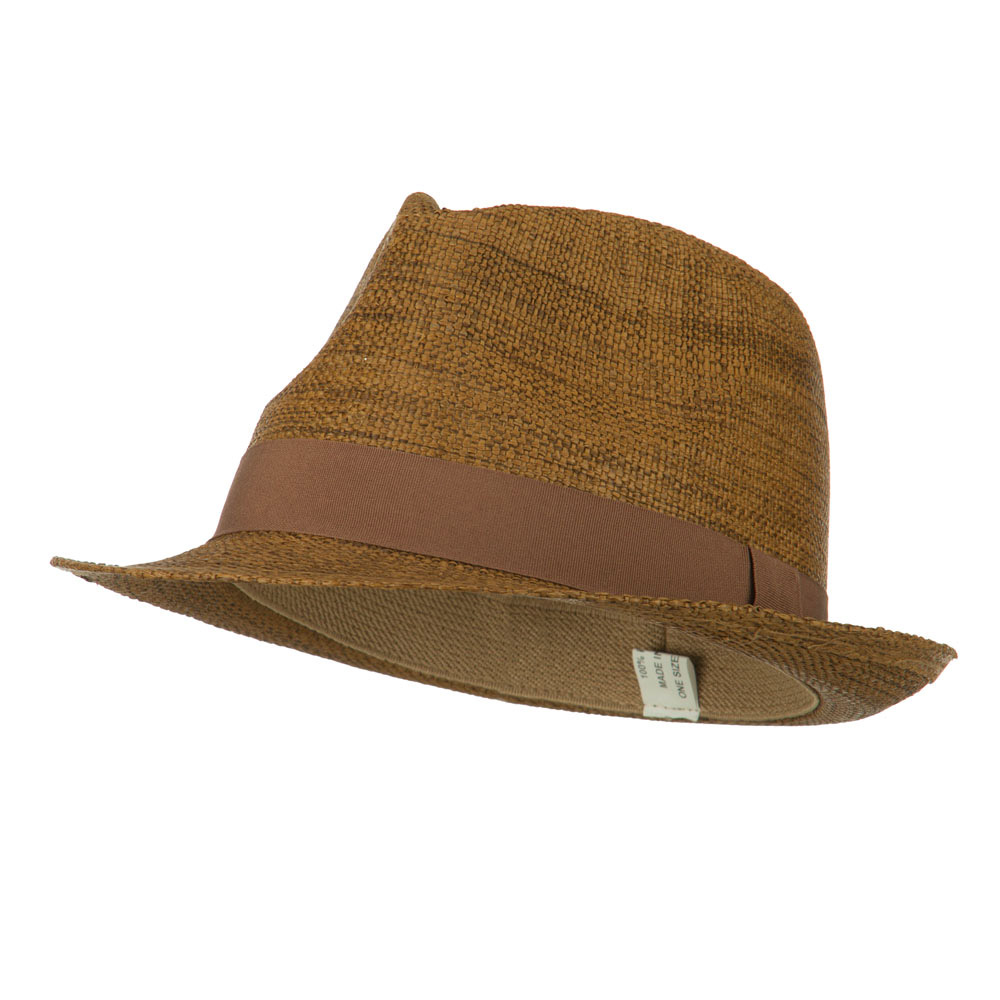 Men's Large Brim Paper Woven Fedora - Tan - Hats and Caps Online Shop - Hip Head Gear