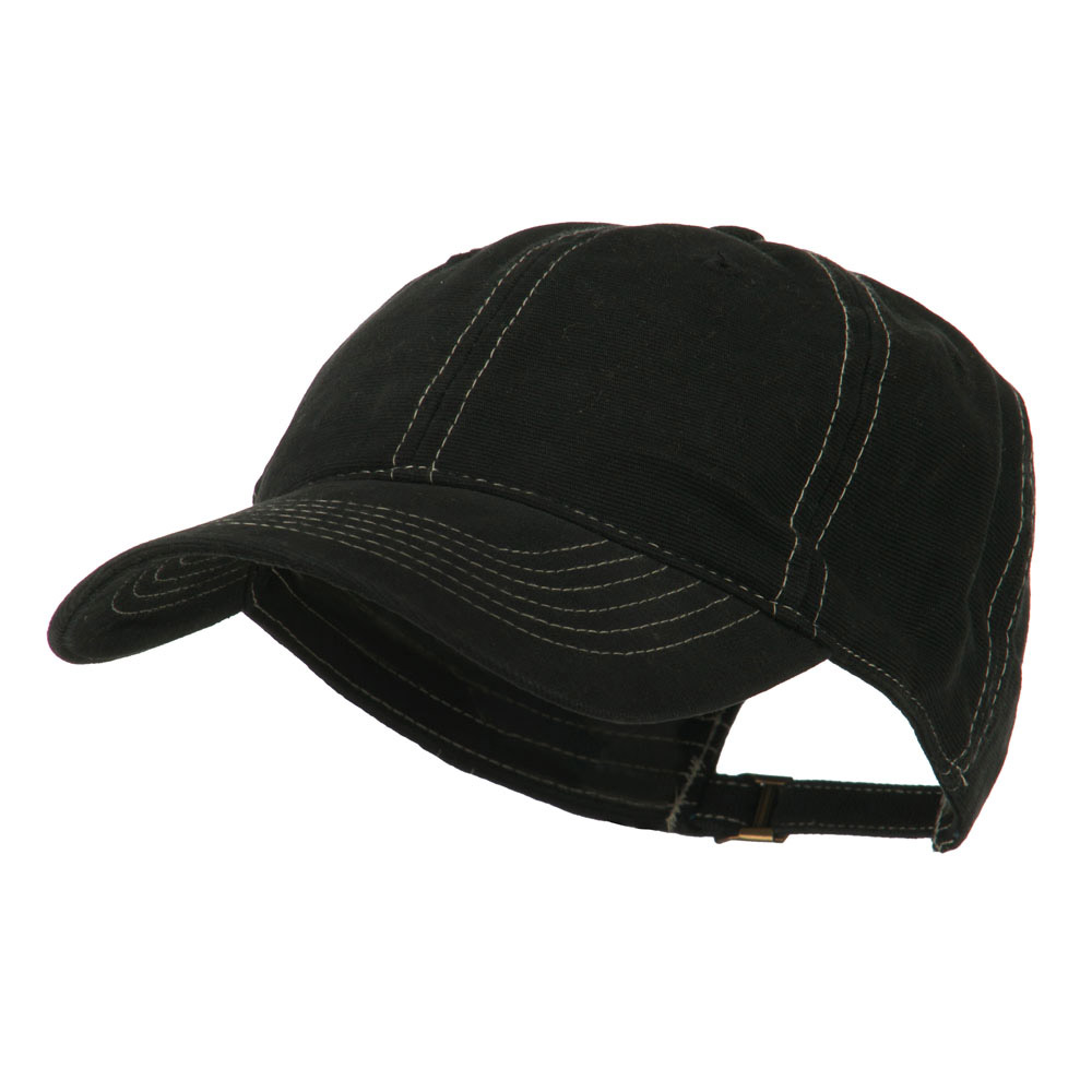 6 Panel Cotton Washed Cap - Black - Hats and Caps Online Shop - Hip Head Gear