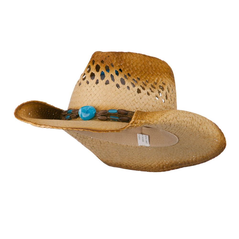 Women's Pinch Top Crown Cowboy Hat - Natural - Hats and Caps Online Shop - Hip Head Gear