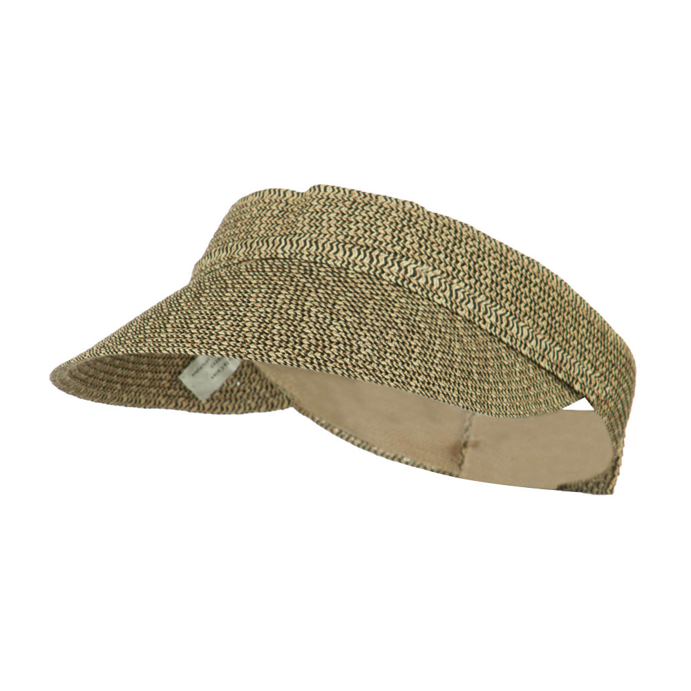 Women's UPF 50+ Visor with Buckle Accent - Black Tweed - Hats and Caps Online Shop - Hip Head Gear