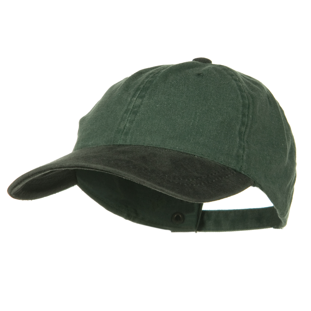 Youth Washed Pigment Dyed Cotton Cap - Black Dark Green - Hats and Caps Online Shop - Hip Head Gear