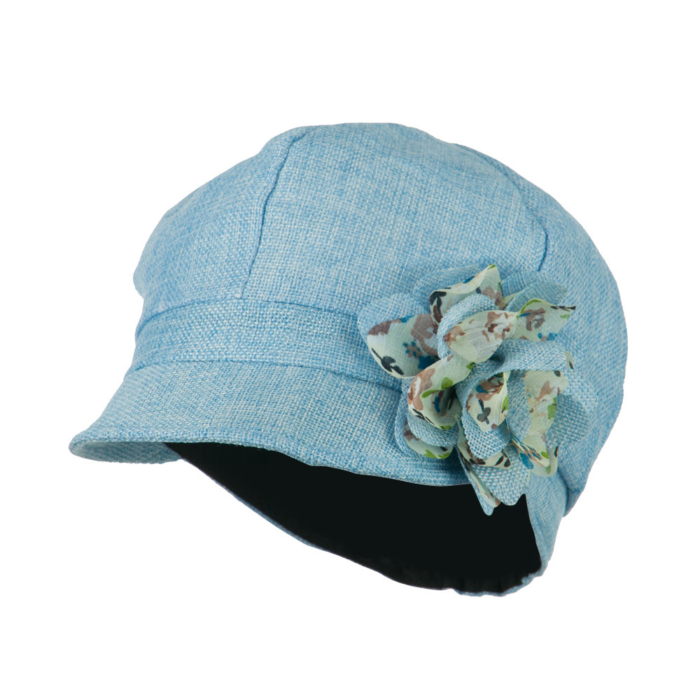 Women's 6 Panel Polyester Cabbie Cap - Blue - Hats and Caps Online Shop - Hip Head Gear