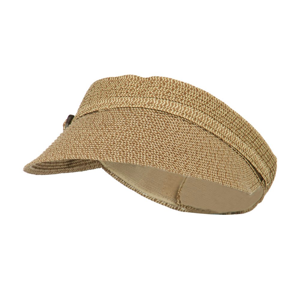 Women's UPF 50+ Visor with Buckle Accent - Brown Tweed - Hats and Caps Online Shop - Hip Head Gear