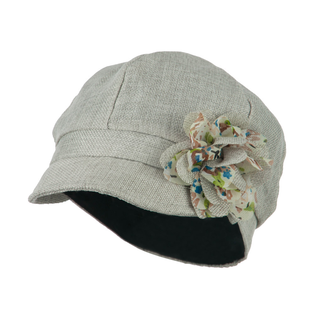 Women's 6 Panel Polyester Cabbie Cap - Grey - Hats and Caps Online Shop - Hip Head Gear