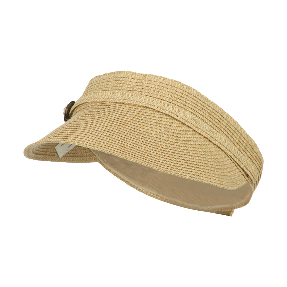Women's UPF 50+ Visor with Buckle Accent - Tan Tweed - Hats and Caps Online Shop - Hip Head Gear