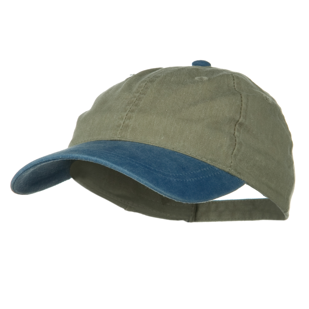Youth Washed Pigment Dyed Cotton Cap - Sky Blue Khaki - Hats and Caps Online Shop - Hip Head Gear