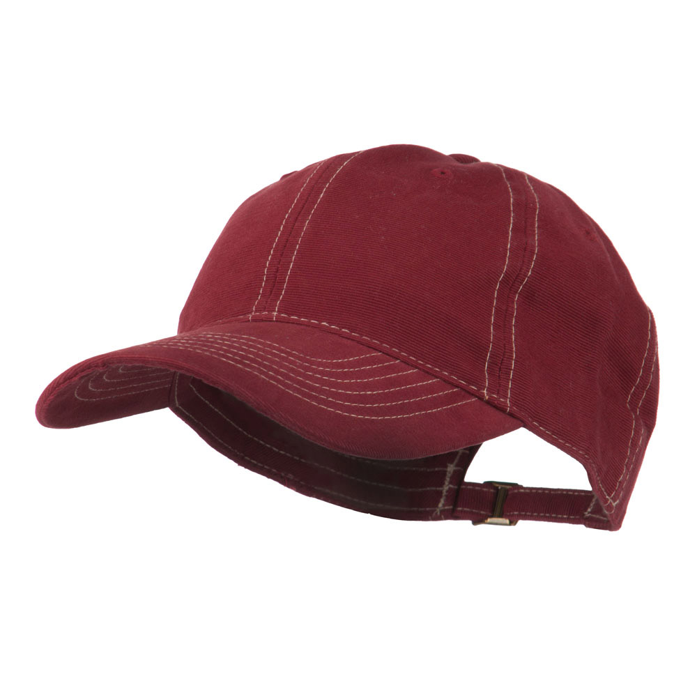 6 Panel Cotton Washed Cap - Wine - Hats and Caps Online Shop - Hip Head Gear