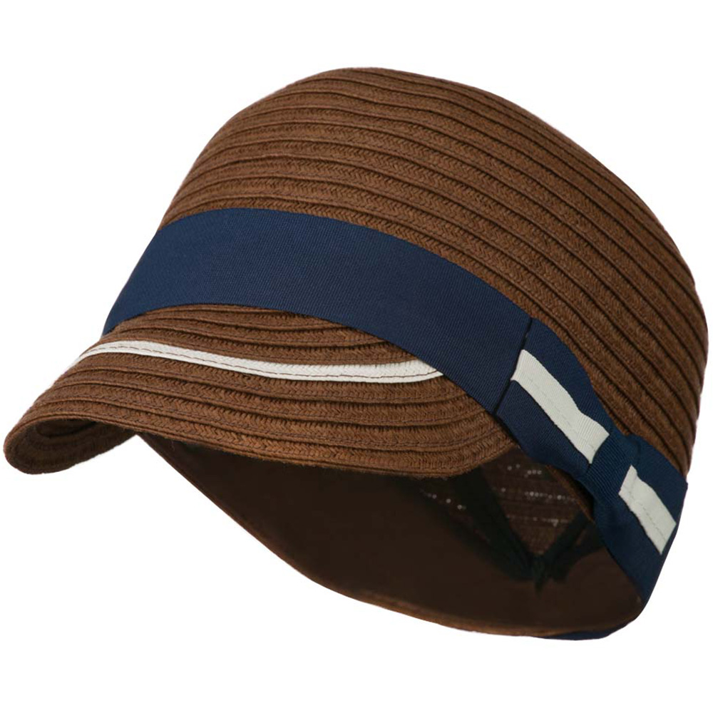 Women's Paper Hat with Ribbon - Dark Brown - Hats and Caps Online Shop - Hip Head Gear