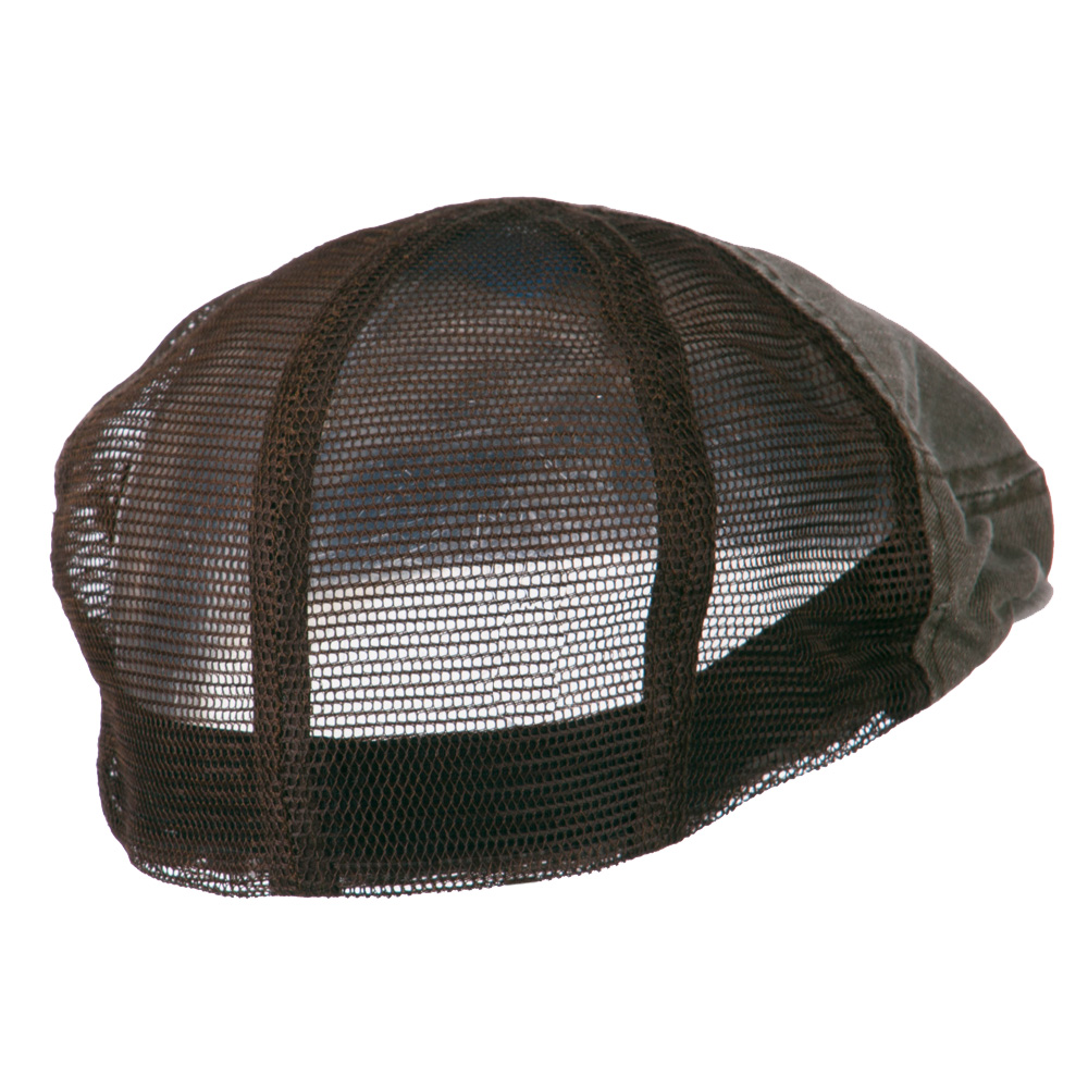 Washed Cotton Slub Twill Mesh Ivy Cap - Brown - Hats and Caps Online Shop - Hip Head Gear