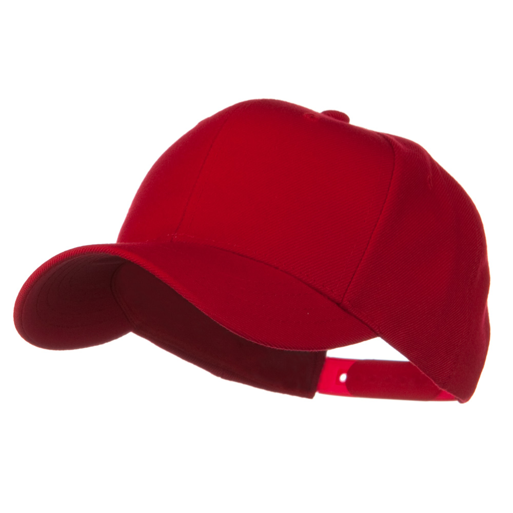 Youth Wool Pro Style Snapback Cap - Red - Hats and Caps Online Shop - Hip Head Gear