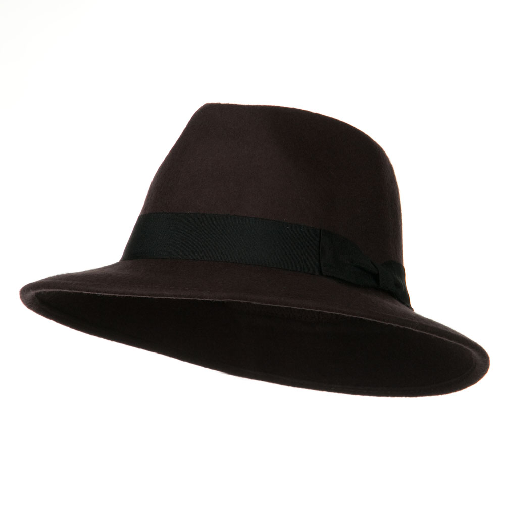 Wool Safari Fedora Hat - Brown - Hats and Caps Online Shop - Hip Head Gear