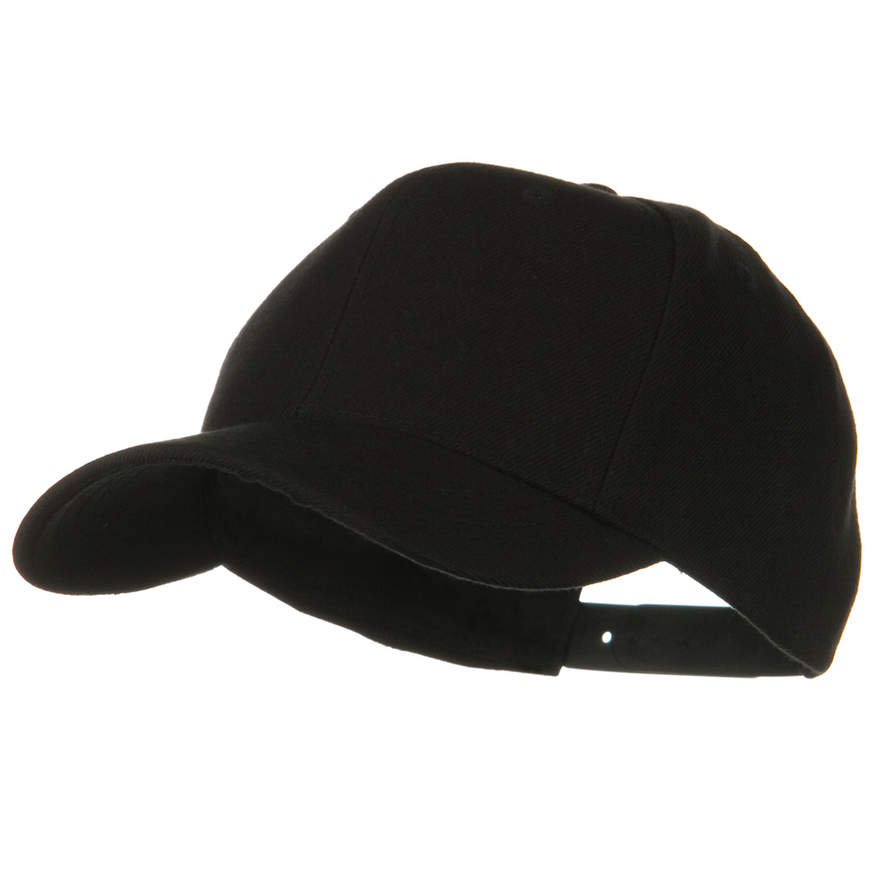 Youth Wool Pro Style Snapback Cap - Black - Hats and Caps Online Shop - Hip Head Gear