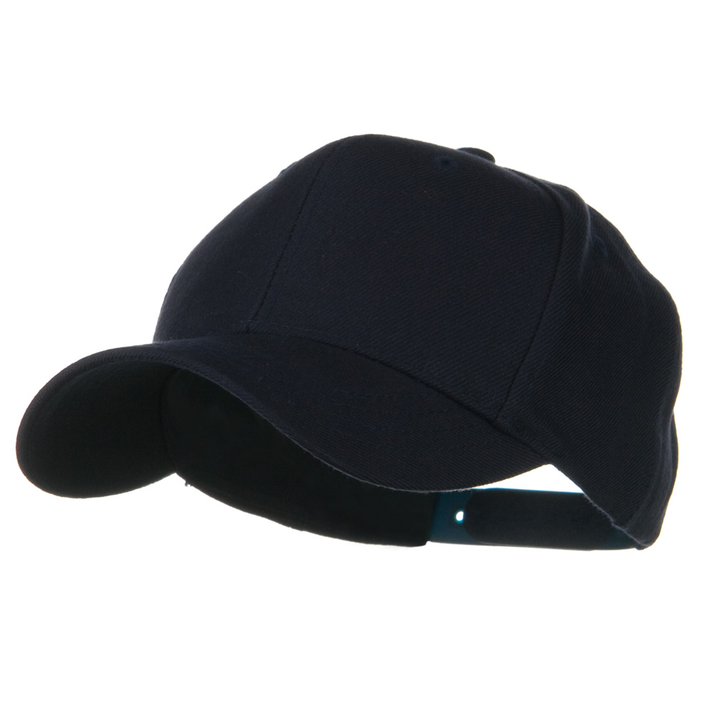 Youth Wool Pro Style Snapback Cap - Navy - Hats and Caps Online Shop - Hip Head Gear