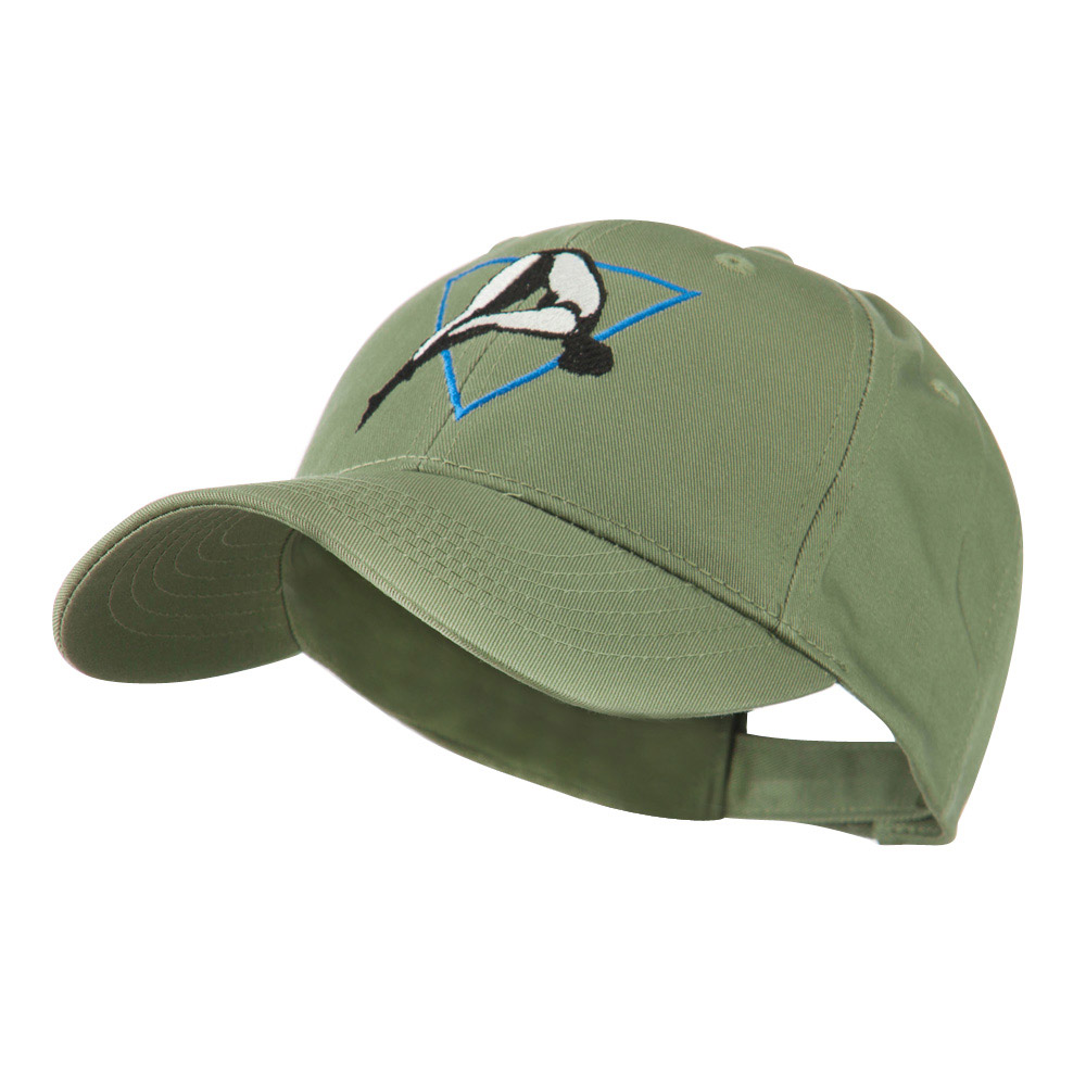 Diving Woman Logo Embroidered Cap - Olive - Hats and Caps Online Shop - Hip Head Gear