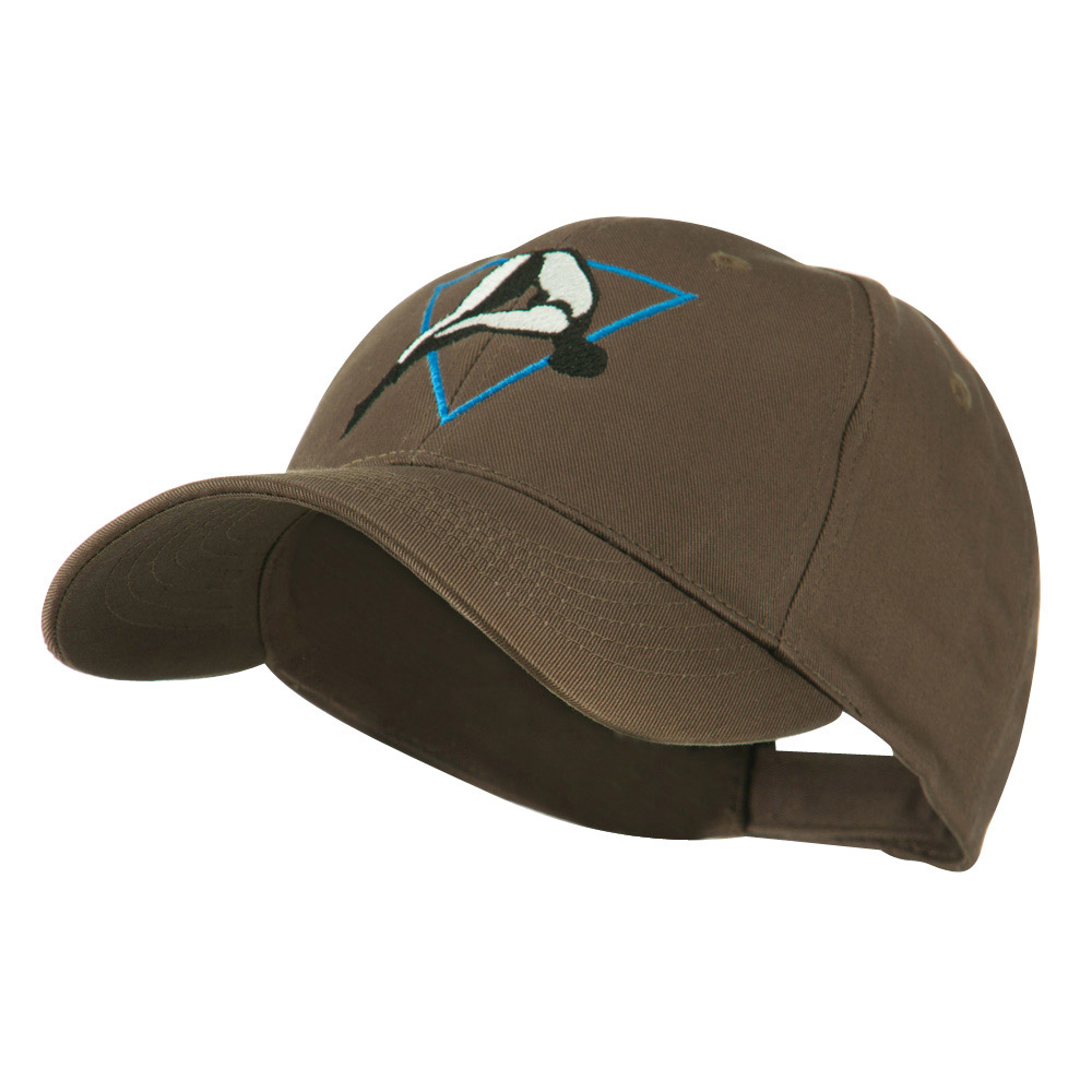 Diving Woman Logo Embroidered Cap - Brown - Hats and Caps Online Shop - Hip Head Gear