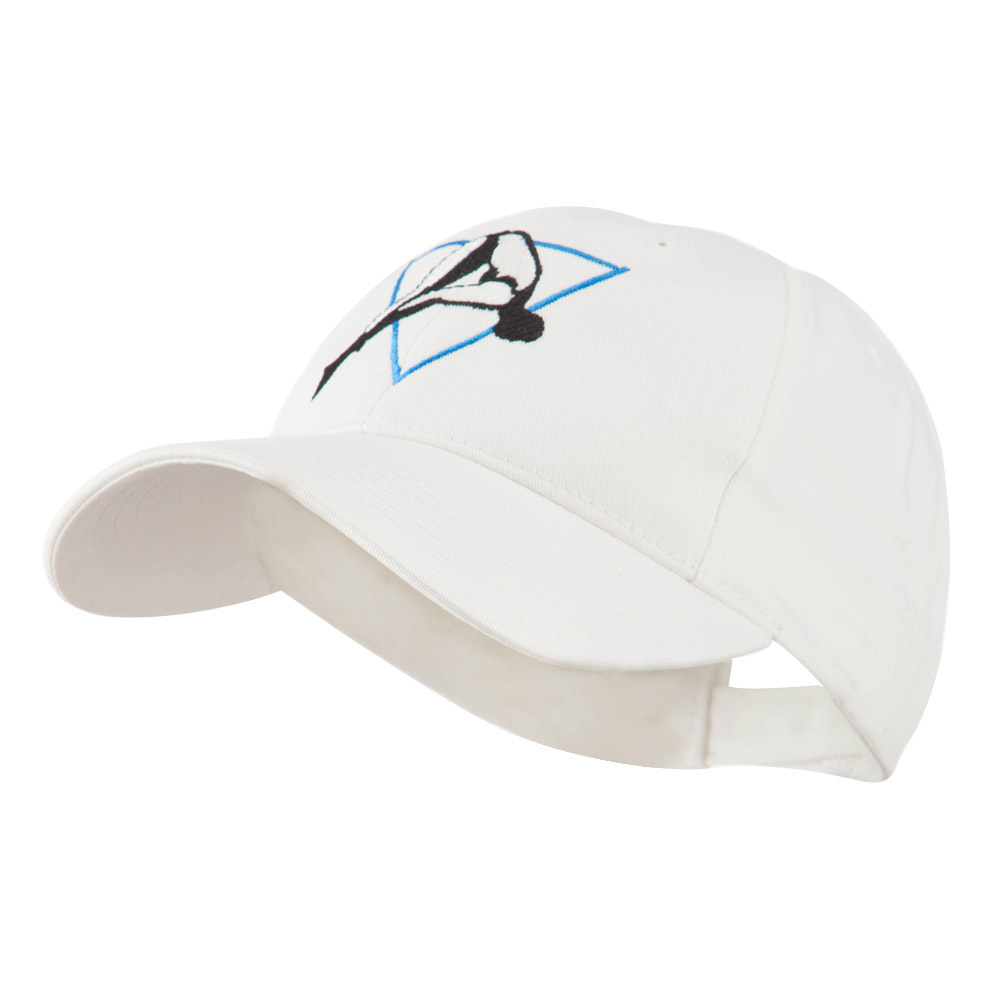Diving Woman Logo Embroidered Cap - White - Hats and Caps Online Shop - Hip Head Gear