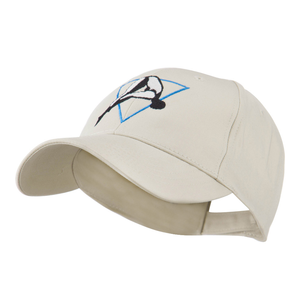Diving Woman Logo Embroidered Cap - Stone - Hats and Caps Online Shop - Hip Head Gear