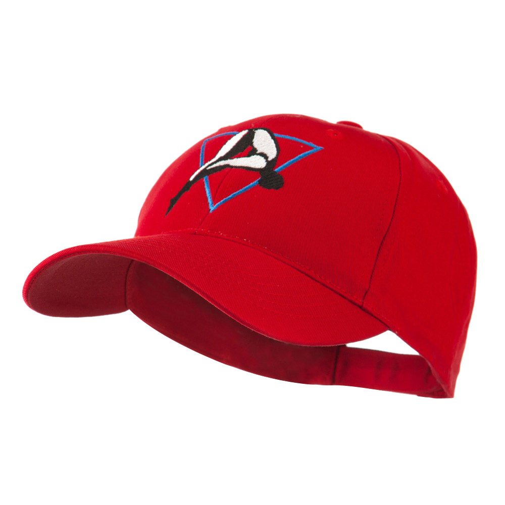 Diving Woman Logo Embroidered Cap - Red - Hats and Caps Online Shop - Hip Head Gear