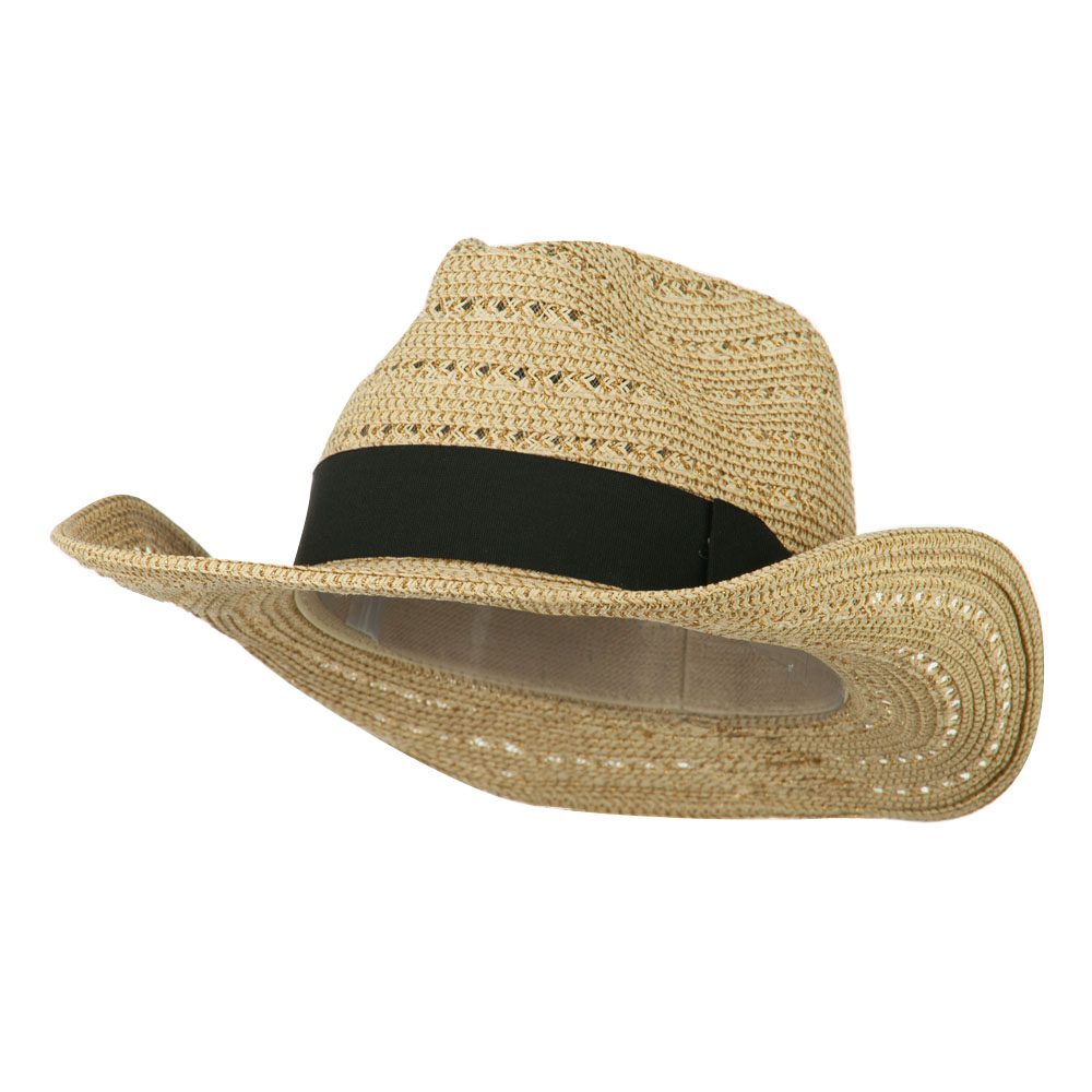 Women's Gold Metallic Paper Straw Fedora - Natural - Hats and Caps Online Shop - Hip Head Gear
