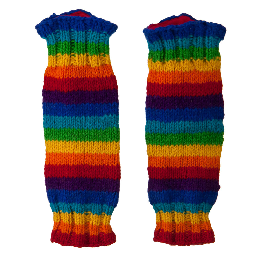 Wooly Leg Warmer - Rainbow - Hats and Caps Online Shop - Hip Head Gear
