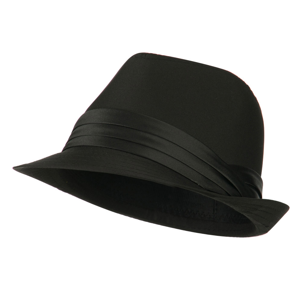 Youth Poly Cotton Fedora Hat - Black - Hats and Caps Online Shop - Hip Head Gear