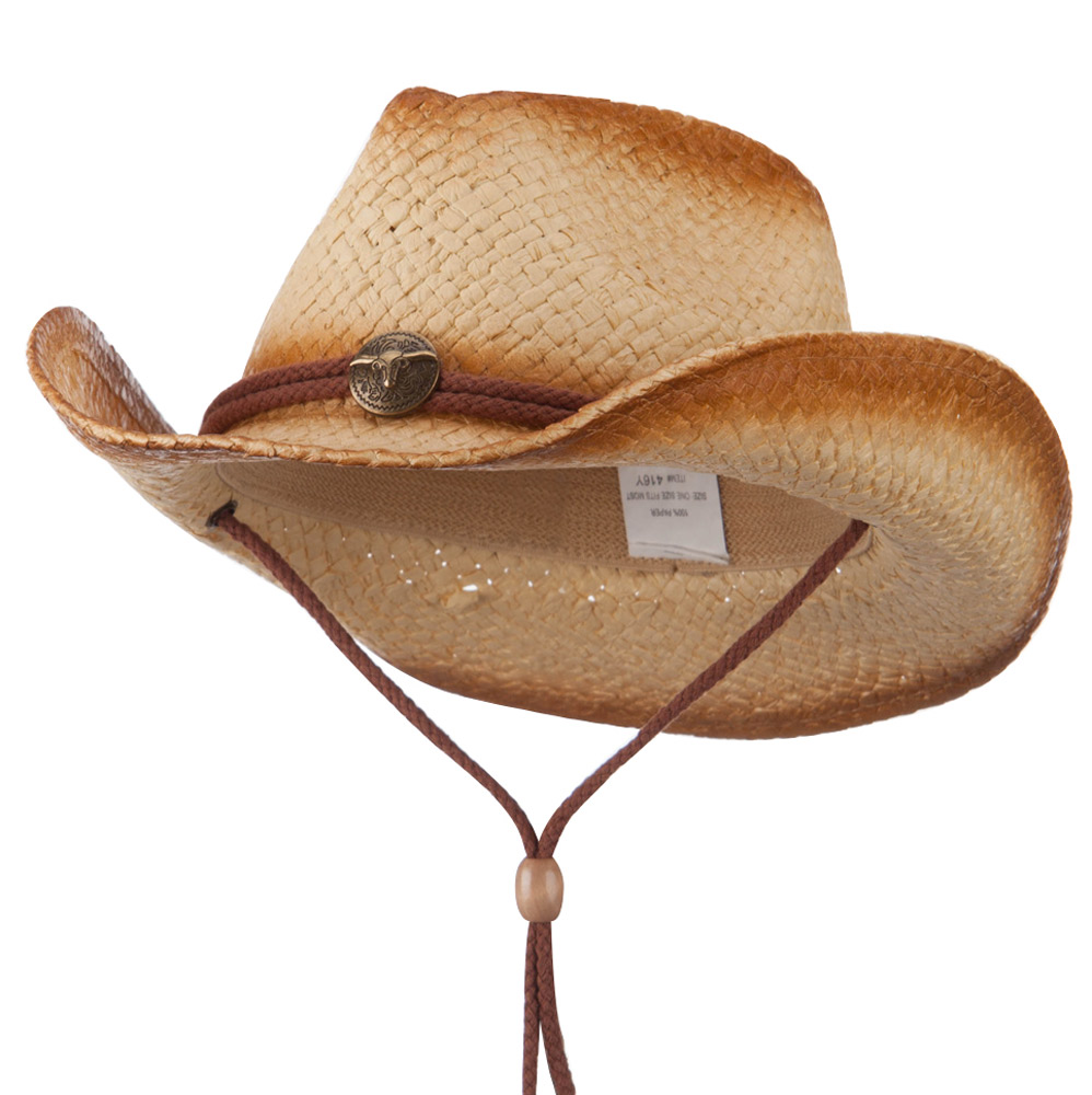 Youth Colored Cowboy Hat - Brown - Hats and Caps Online Shop - Hip Head Gear