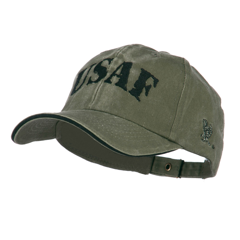 Youth US Air Force Embroidered Cotton Cap - Olive - Hats and Caps Online Shop - Hip Head Gear