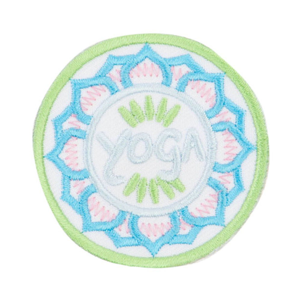 Yoga Embroidered Patches - Green